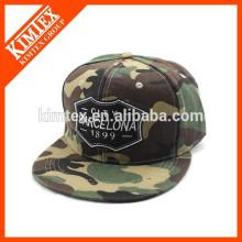 Nuevo casquillo del estilo del ejército del bordado de la manera y gorras de béisbol planas del borde del camuflaje del sombrero
