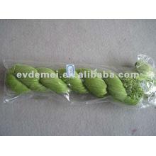 Green viscose long plain crinkle scarf