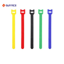 Envoltório de cabo colorido resistente com gancho e laço
