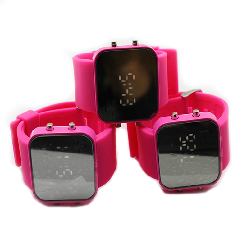 led mirror watches