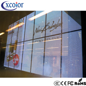 P7.81 Transparent LED Display Window Buliding