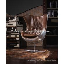 Chaise à oeuf pivotante vintage Factory A616