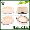 Environmental protection bamboo fiber pet bowl in natural color