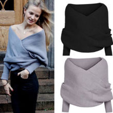 Women Long Sleeve Loose Cardigan Knitted Sweater Jumper Knitwear