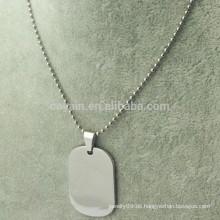 Kundenspezifische billige silberne Metall Personalisierte Halskette