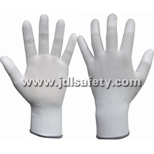 ESD Work Glove with PU on Fingertips (PC8113)