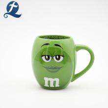 Neues Produkt Custom Printed Cartoon 3D Becher Office Ceramic Cup