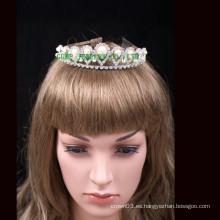 Corona cristal de cristal de la tiara de la perla de la promoción