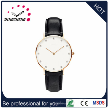 Relógio de couro genuíno pulseira para senhoras (DC-1106)