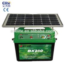 Energizador de valla electrónica solar 30 KM con caja de batería