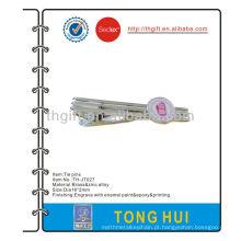 O pino / clipe de gravata em metal de esmalte personalizado, com a impressão do logotipo