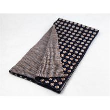 Écharpe lourde en tricot à franges jacquard DOT hiver chaud unisexe (SK172)