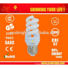 HOT ! T3 11W Mini Full Spiral Energy Saving Lamp 10000H CE QUALITY