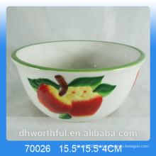Utensilios de cocina cuenco de cerámica con diseño de manzana