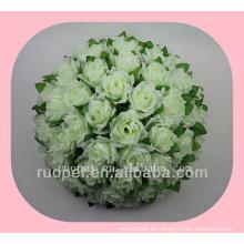 bola de la boda / rosa artificial barata que da la bola de la flor