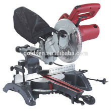 "1400W 210mm Bois / Aluminium Cutting Cut Off Machine Puissance électrique 8-1 / 4 ""Sliding Miter Saw"