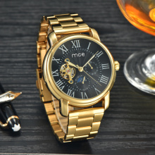 gold plated fashion hand boy men watch