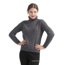 Meilleure vente de conception personnalisée gris foncé pur pull en cachemire