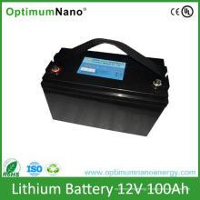 Batteries rechargeables de batterie au lithium de cycle profond de 12V 100ah