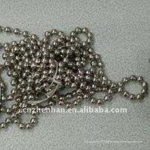 Bola de acero inoxidable de 4.5 * 6mm cadena-cortina de la cadena-bola del grano de la bola cadena-cortina accesorio