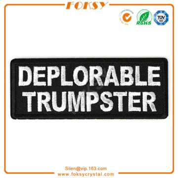 Deplorable Trumpster embroidery patches iron on