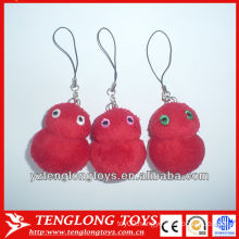 Cute red plush animal toys keychain,mini and stuffed animal keychains