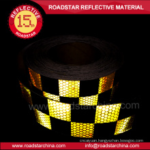 colorful honeycomb square hi vis vehicle reflective tape