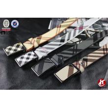 Hot Sale Cheap Fake Leather PU Belts Tartan Striped Waist Unisex Belt
