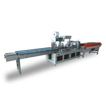 Automatic fabric wall paper roll shrink wrapping machine