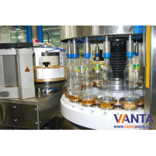 Self-adhesive Bottle Labeling Machine Rotary Touch Screen Opp