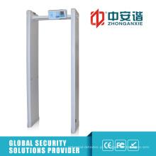 6 Zonas 400 sensibilidade Walk Through Metal Detector com PC Função de rede