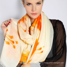 Hand Painted Merino Wool Scarf