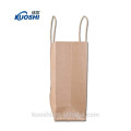 New products brown kraft paper bag with logo print