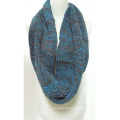 Womens Unisex Neck Warmer Fancy Thick Winter Yarn Mixed Knitted Loop Scarf Snood (SK157)