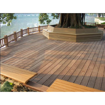Hollow WPC Outdoor Flooring , Waterproof Plastic Floor