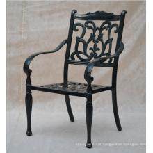 Cadeira de conjunto jardim de mobília do pátio ao ar livre do metal fundido de alumínio