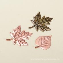 Yiwu quente maple folhas forma ofícios do metal alibaba
