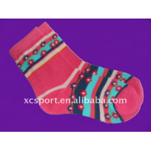 Knitted cotton tube jacquard children socks