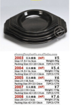 2003 black plastic bowl mat