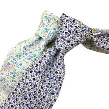 Cravate en coton imprimée à la main