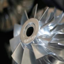 Impulsor de rueda de compresor de aluminio de titanio para fresado CNC
