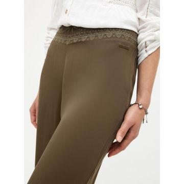 Hot sale ladies brown casual trousers