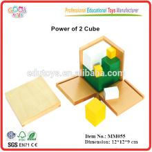 Montessori pädagogische Spielzeug trinomiale Macht von 2 Würfel