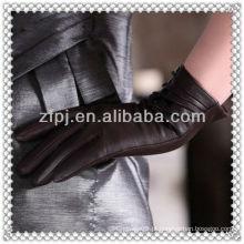 Luva nova da classe do couro da forma da chegada 2013 para mulheres