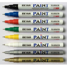 Thin Aluminum Barrel Permanent Marker with 0.7 mm Tip