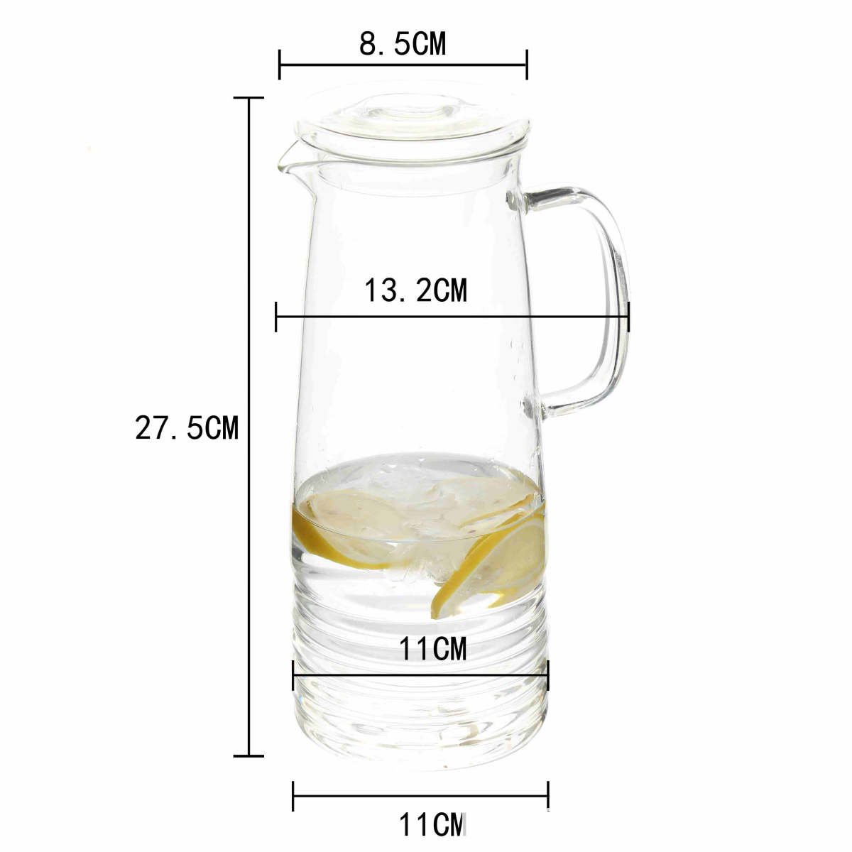 high borosilicate Glass heat cold resistant best quality coffee milk tea water carafe pot jug maker pitcher with glass and silicone lid (12)