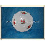 hot sale porcelain round soup plate