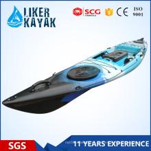 Liker Angler Series 4.3m barco de pesca Sentar em cima poderia adicionado com um motor para libertar suas mãos