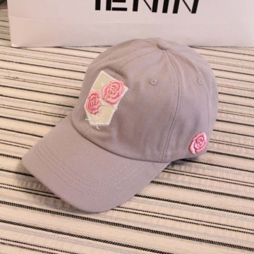 3D Embroidery Roses Baseball Cap Unstructured Baseball Hat Metal closure Dad Hat