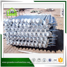 Professional made low price galvanized ground helical screw piles